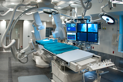 Cellular coverage in hospital cath labs
